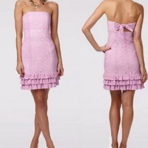 Lilly Pulitzer Franco Strapless Ruffle Dress 8